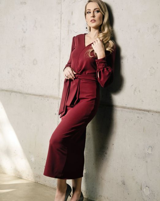Maroon-Dress-5